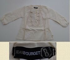 Girls Jean Bourget shirt ruffled chemise long sleeve style NWT 100% Authentic