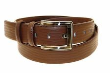 Mens Genuine Brown Leather Belt In Gift Box - All Sizes