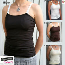 UNDERCOVER MAMA BREAST FEEDING MATERNITY NURSING BRA TANK TOP SHIRT CAMISOLE