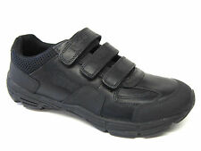 Boys Clarks Active Air Leather Shoe In Black 'Air Humber'