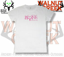 Bone Collector Ladies Logo White Fitted Short Sleeve Tee T-Shirt 301-903