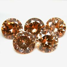 Round 5mm Champagne CZ Cubic Zirconia Loose Stone Lot