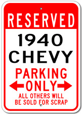 1940 40 CHEVY  Parking Sign