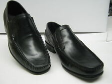 CLARKS MENS BRIMSMORE DAWN SLIP ON SHOES IN BLACK LEATHER