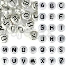 90- Wholesale Alphabet Single Mixed Acrylic letter Round Beads Choose DIY