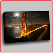 Modern Canvas Art Print New york bridge by night