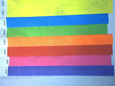 100 WRIST TICKETS TYVEK 25 PRINTS/COLORS YOU CHOOSE WRISTBANDS NEW SECURITY
