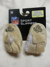 New NFL New Orleans Saints Infant Baby Booties Slippers Soft Fur Like Lining