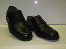 MENS CLARKS OXFORD LACE UP  TOE CAP IN BLACK LEATHER