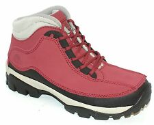 WOMENS LADIES RED STEEL TOE CAP SAFETY WORK BOOTS 4-8