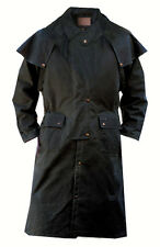 Outback Oilskin Duster - Black & Brown - Several Sizes