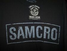 SONS OF ANARCHY SAMCRO BLACK T-SHIRT NEW !