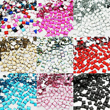 1000 SQUARE Rhinestones Acrylic Gems Flat back - Nail art , Cardmaking , Crafts