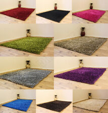 SMALL-MED-XLARGE 3CM THICK HIGH PILE LUXURIOUS HEAVY WEIGHT SPARKLE SHAGGY RUGS