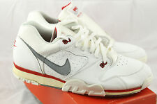 ***1990 NIB VINTAGE NIKE AIR CROSS TRAINER LOW WHT/RED***