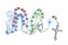 MISSIONARY GUARDIAN ANGEL ROSARY BEADS Rosaries Red Blue Yellow Clear Green