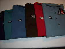 NWT $40 St. John's Bay® Men's Sueded Henley - Big and Tall sizes - Many Colors!