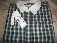 LACOSTE AUTHENTIC CASUAL DRESS PLAID SHIRT SLIM FIT SIZE 44 or 45 MENS NWT $125