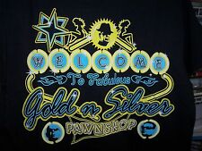 PAWN STARS NEON SIGN GOLD & SILVER PAWN SHOP OFFICIALLY LICENSED T-SHIRT NEW !