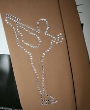 OVER THE BOOT SKATING TIGHTS ICE SKATER  USING SWAROVSKI ELEMENTS or CRYSTAL