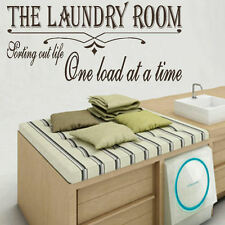 LARGE LAUNDRY ROOM QUOTE SORT LIFE WALL GIANT ART STICKER STENCIL TRANSFER DECAL