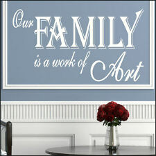 LARGE FAMILY QUOTE KITCHEN GIANT WALL MURAL STICKER ART TRANSFER STENCIL DECAL