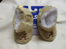 New Alabama Crimson Tide Plush Soft Velcro Closure Baby Booties Infant Slippers