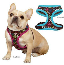 Soft Fabric Peace Out Dog Harness  Harnesses East Side Collection Peace Sign