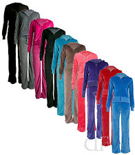 NEW WOMENS FULL LADIES TRACKSUITS VELOUR HOODY WITH TROUSERS  SIZE 8 10 12 14 16