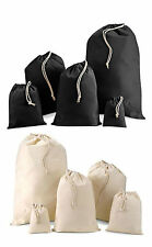 WESTFORD MILL COTTON STUFF BAG LAUNDRY SHOES STORAGE WEDDING FAVOURS DRAWSTRING