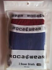 Roca Wear Boys Underwear 2 Boxer Briefs Sz  XS, S, M, L, XL Blue/Red   NIP