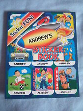 Personalised Sticker Fun Sticker Book - Boys Names A to J