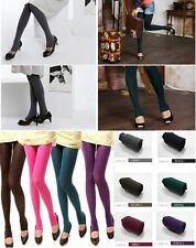 7 Colour Women Opaque Stirrup Tights Warm Stretch Thin Pants Stockings