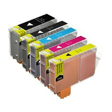 5 Compatible BCI-6 / BCI-3EBK Ink Cartridges for Canon Printers - Multipack