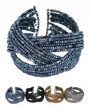 Sexy Stunning Basketball Wives Seed Beads Bangle Bracelets  Your choice of color