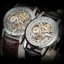 Best Vintage Collection Men Auto Mechanical Mov Wrist Watch Leather Band Analog