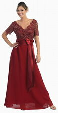 6 COLOR FORMAL OCCASION MOTHER OF BRIDE GROOM DRESS WEDDING EVINING M-5XL+Plus