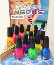 China Glaze - *NEW* SUMMER NEONS 1083-1094- PICK YR FAVORITE COLOR ! SHIP IN 24H