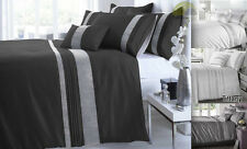 Stunning Black & Red Diamante Duvet Cover Sets - Contemporary Bed Linen
