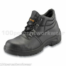 Worktough 101SM BLACK Leather Safety Chukka Work Boots Shoes Steel Toe Cap S1