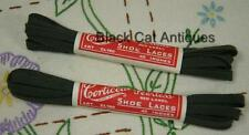 Orig Vintage Corticelli Red Label Shoe Laces Khaki Lot of 2 Assorted Sizes NOS