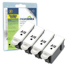 4 Compatible Advent ABK10 Black Ink Cartridges for A10 AW10 AWP10 Printers
