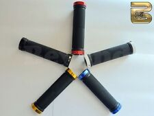 Double Lock On Value BMX MTB Coloured Bicycle Handlebar Grips - Various Colours