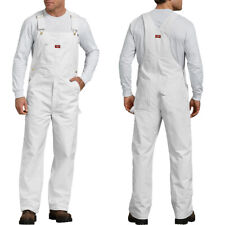 Dickies Bib Overalls Mens Painters bib Overalls 8953 White Cotton Size 30-50