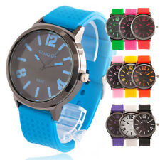 FASHION Young Jelly Sport Wrist Watch Boy Girl men Quartz Rubber Clock 10 COLORS