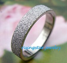 Lady Elegant Galaxy Stardust Stainless Steel Wedding Band Ring Size 5.5,6.75,8,9