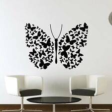 Big BUtterfly of Lots of Small Butterflies Wall Art Decals Wall Sticker Transfer