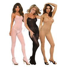 Sexy Lingerie Opaque Crotchless Bodystocking Bodysuit Shaper O/S or Plus Size