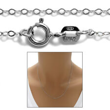 Sterling Silver RHODIUM BABY ROLO chain necklace 1mm