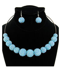 Sexy Stunning Basketball Wives Light Blue Choker Statement  Necklace